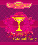Cocktail party Invitation Card Royalty Free Stock Image