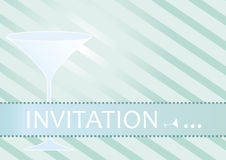 Cocktail Party Invitation Vector Royalty Free Stock Photography