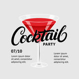 Cocktail party. Martini glass. Stock Photos