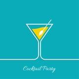 Cocktail party. Martini glass. Invitation club night. restaurant menu Stock Photography