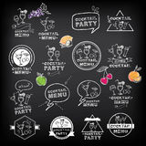 Cocktail party menu, vector illustration. Royalty Free Stock Image