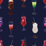 Cocktail party navy seamless vector pattern Royalty Free Stock Image