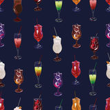 Cocktail party navy seamless vector pattern Stock Images