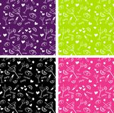 Cocktail party pattern Stock Photos