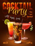 Cocktail party poster Royalty Free Stock Images