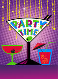Cocktail party poster. Background for night club or alcohol bar Stock Photo