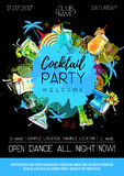 Cocktail party poster design. Royalty Free Stock Image