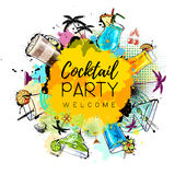 Cocktail party poster design. Stock Image