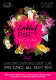 Cocktail party poster design. Stock Photo