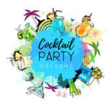 Cocktail party poster design. Stock Images