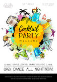 Cocktail party poster design Stock Photos