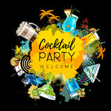 Cocktail party poster design Stock Image