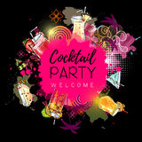 Cocktail party poster design Royalty Free Stock Image
