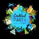 Cocktail party poster design Royalty Free Stock Photo