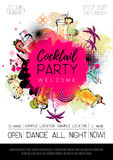 Cocktail party poster design Stock Images