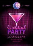 Cocktail party poster Royalty Free Stock Photos