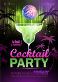 Cocktail party poster Stock Image