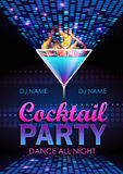 Cocktail party poster Stock Photos