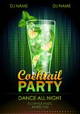 Cocktail party poster Royalty Free Stock Photo