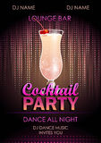 Cocktail party poster Royalty Free Stock Image