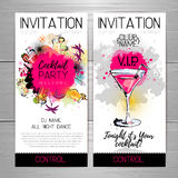 Cocktail party poster. Royalty Free Stock Images