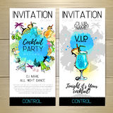 Cocktail party poster. Royalty Free Stock Photos