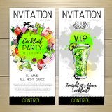 Cocktail party poster. Invitation design stock illustration