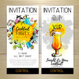Cocktail party poster. Invitation design. Royalty Free Stock Photos