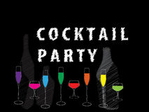 Cocktail party postr  Royalty Free Stock Image