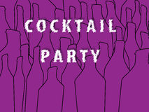 Cocktail party postr Stock Photography
