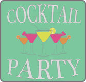 Cocktail party, vector, illustration. Stock Image