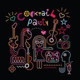 Cocktail party vectorillustratie Royalty-vrije Stock Afbeeldingen