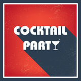Cocktail party vintage invitation card template Stock Photos