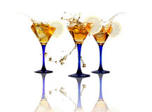 Cocktail Party On White Royalty Free Stock Photos