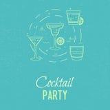 Cocktail partyglazen Stock Foto's