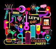 Cocktail partyillustratie Stock Afbeeldingen