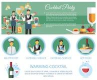 Cocktail-Partyservice-Service-Webseiten-Schablone vektor abbildung