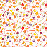 Cocktail pattern Stock Photography