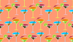Cocktail pattern Royalty Free Stock Image