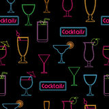 Cocktail pattern Royalty Free Stock Photography