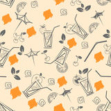 Cocktail pattern Stock Images