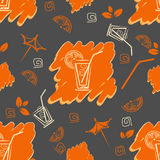 Cocktail pattern Royalty Free Stock Photos