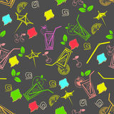 Cocktail pattern Stock Photo