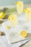 Cocktail pieno di bolle brillo del francese 75 del limone Fotografie Stock Libere da Diritti