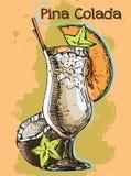 Cocktail Pina Colada di estate Fotografia Stock