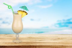 Cocktail. Pina Colada Drink Pineapple Tropical Drink Drinking Stock Photos