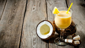 Cocktail pina colada. Stock Photos