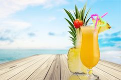 Cocktail. Pina colada pineapple juice tropical drink drink fruit Stock Photo