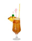 Cocktail with pineapple isolated stock photo