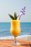 Pineapple and mango juice Royalty Free Stock Photos